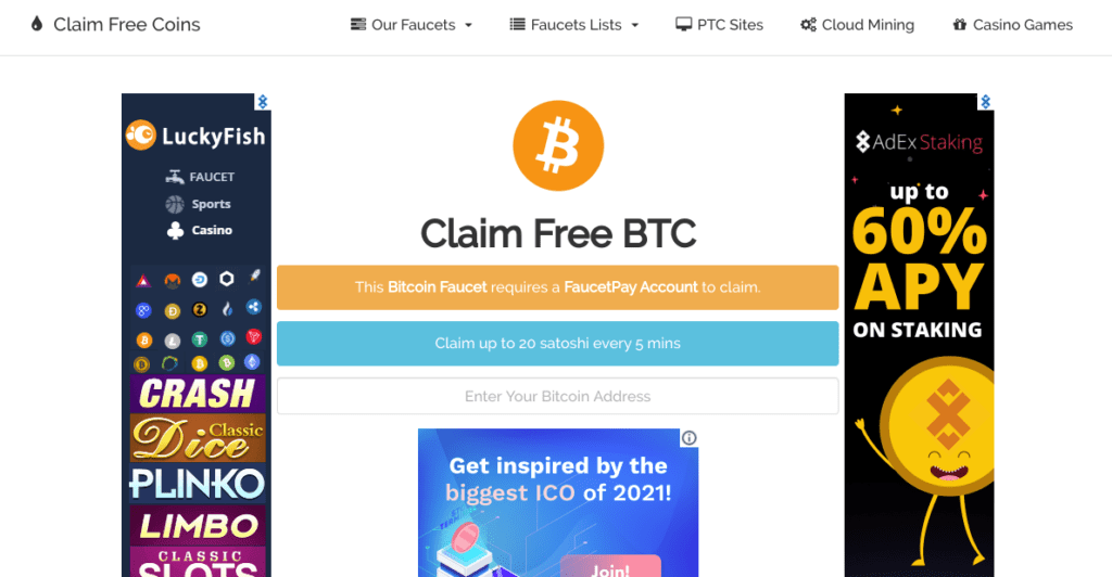 Cryptocurrency faucets as passive income ideas