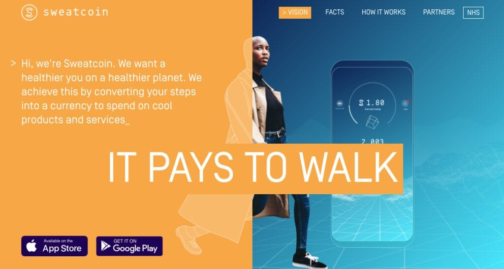 Sweatcoin - Passive income idea that pays you for walking